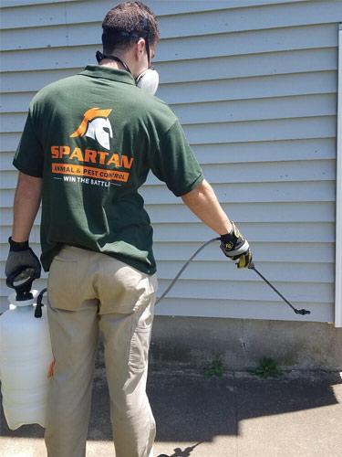 spartan-worker-spraying pesticide